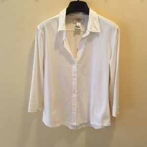 Talbots White 3/4 sleeve blouse